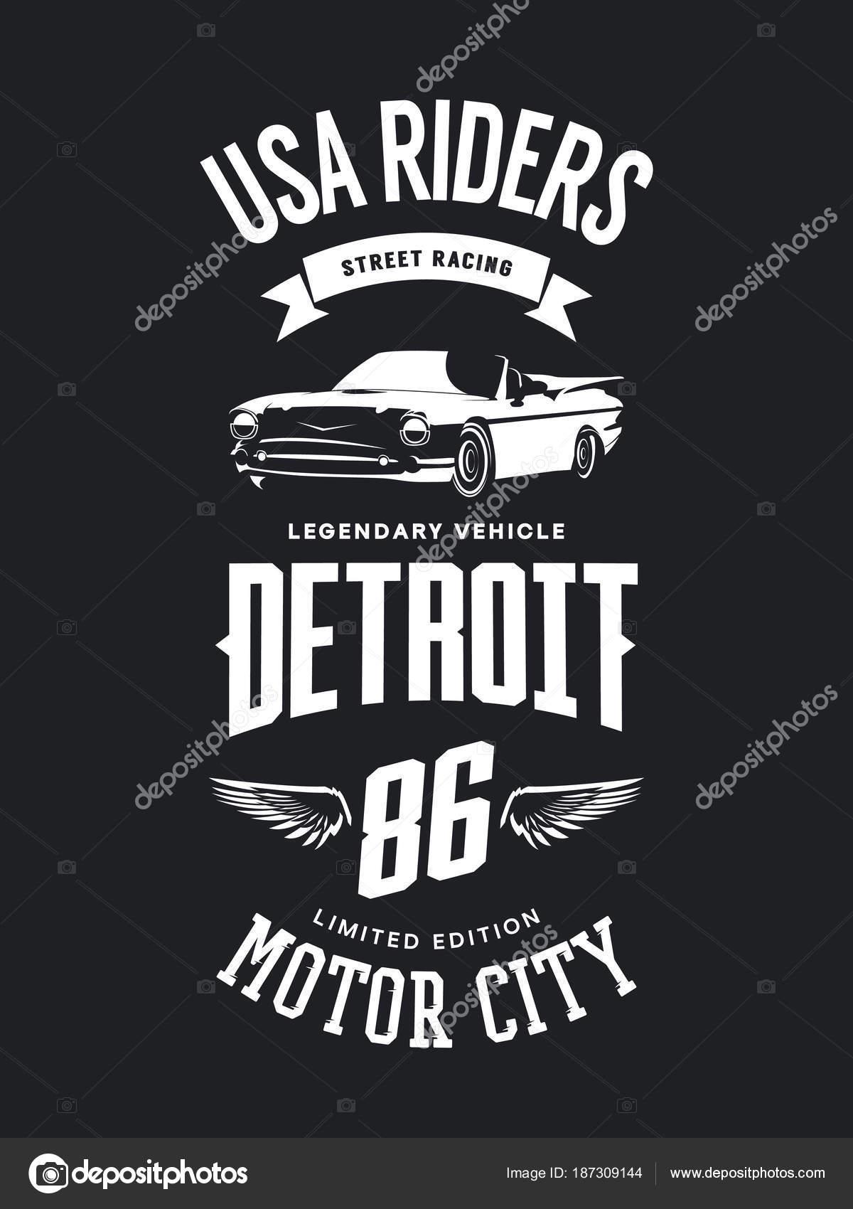 Vintage Cabriolet Vehicle Shirt Vector Logo Dark Background