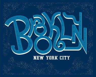 Typography logo of Brooklyn