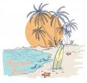 Sunset beach plakát