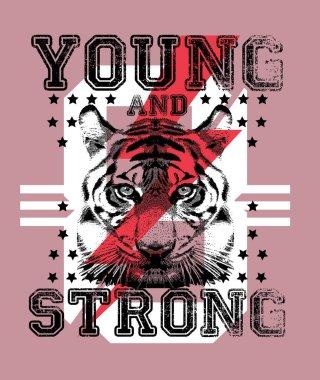 Tiger graphics poster