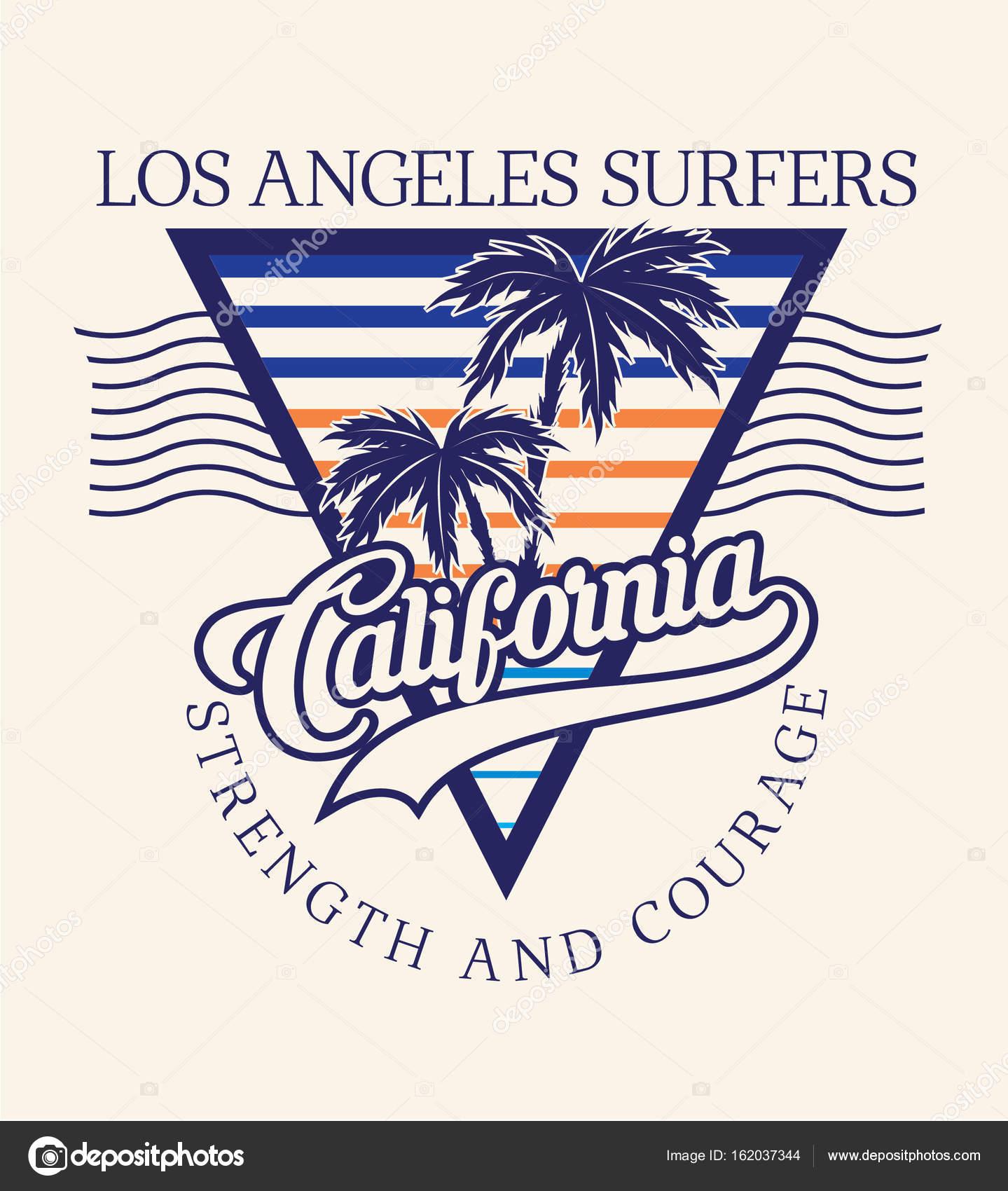 7d78f1fe California Surf typography for t-shirt print– stock illustration