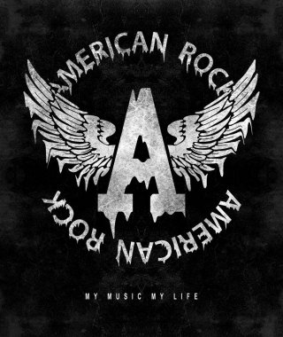 fashion graphic design with rock slogan american rock for t-shirt on black background