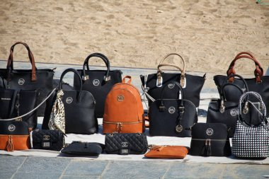 False branded bags sold on the beach