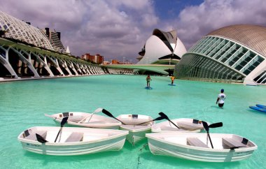 Valencia water sports at City of Arts and Sciences