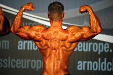 Bodybuilder at Arnold Classic Europe contest