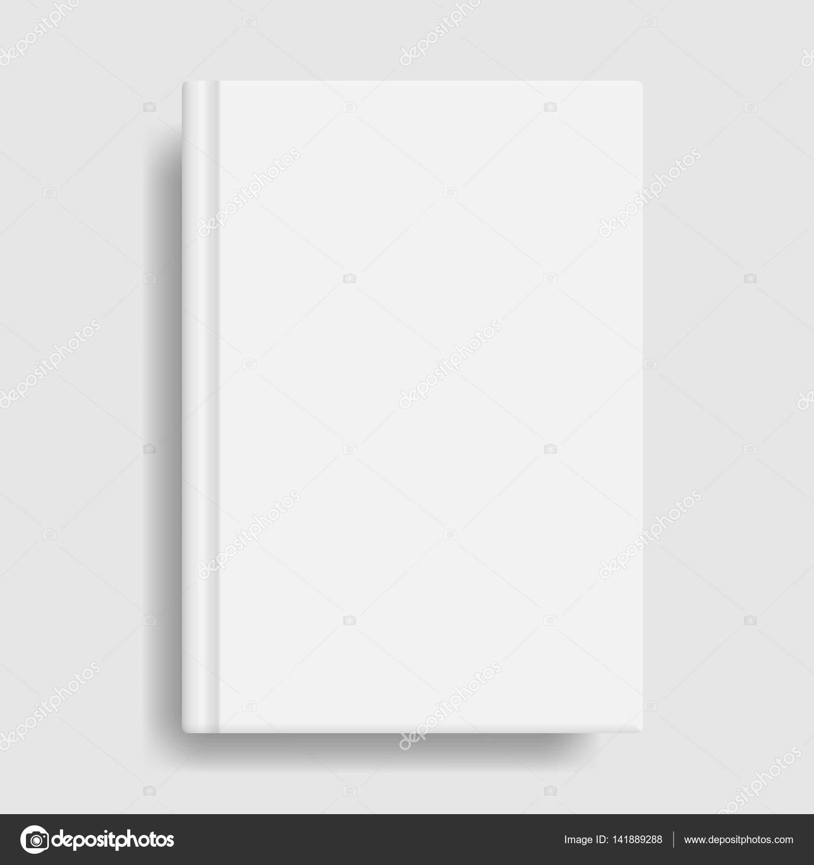 Book Cover White Zinfandel : 书封面样机。空白的白色模板 — 图库矢量图像 superiorstocker