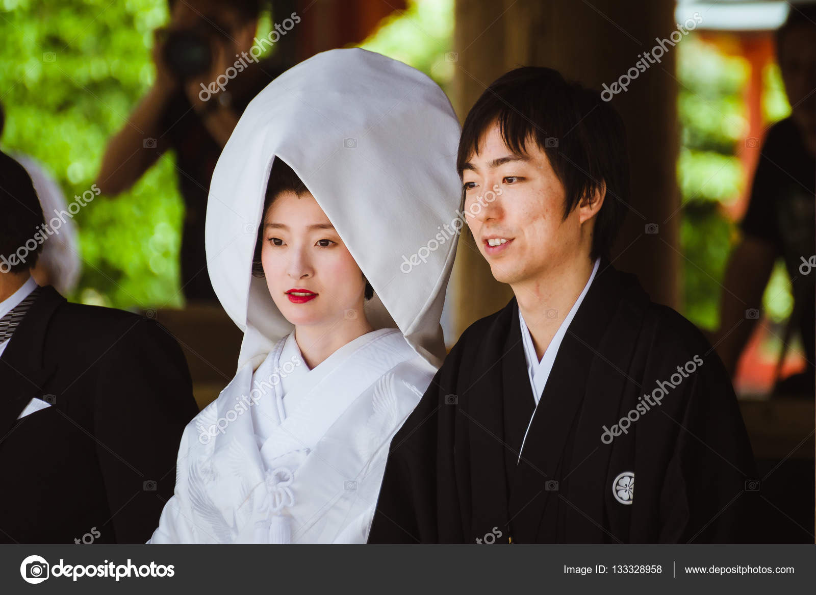 depositphotos 133328958 stock photo japanese bride and groom during
