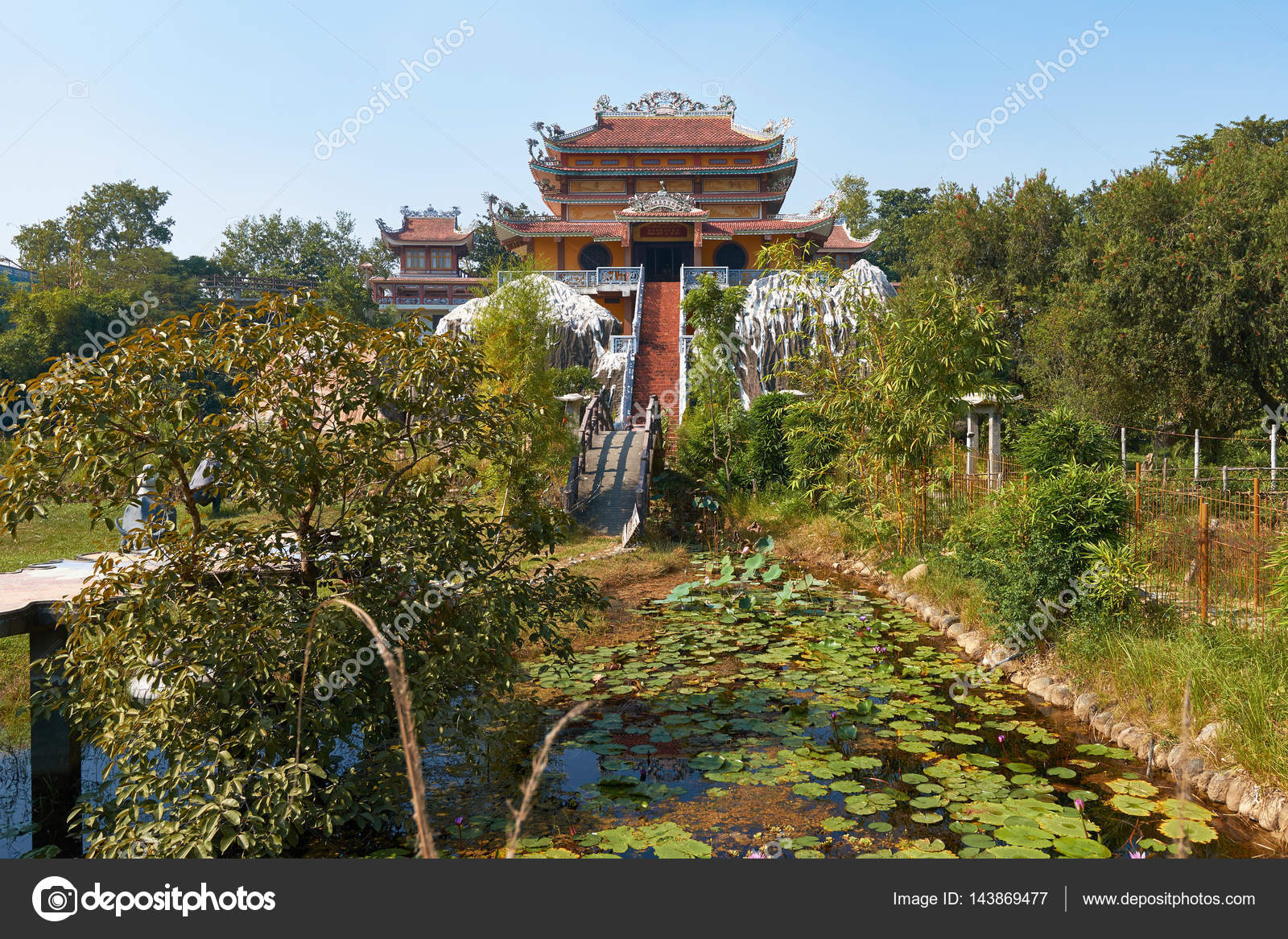 Vietnamese Buddhist temple — Stock Photo © vlade-mir #143869477