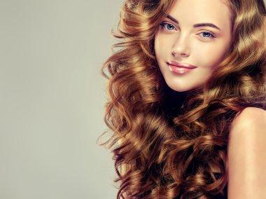 Beautiful girl with shiny  hair