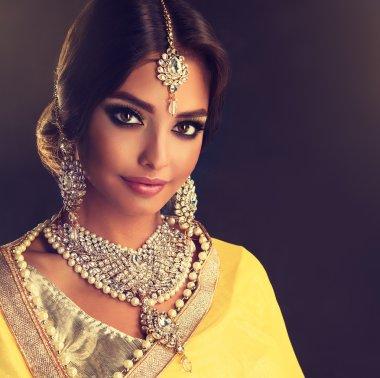 Portrait of beautiful indian girl .