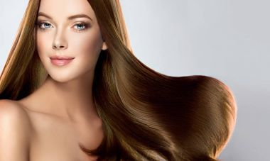 girl with  brown straight long  hair