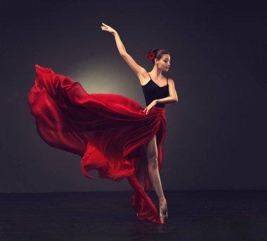 Young graceful woman ballet dancer