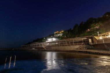 sanatorium Utes at night/ view of the Utyos health resort at night, Crimea