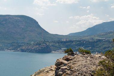 Cape Plaka/ View from Cape Plaka to Ayu-Dag Mountain, Utes, Crimea