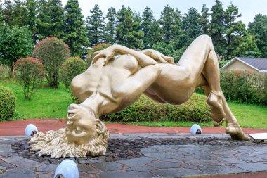 Eroticism sculpture at Jeju Loveland theme park on oct 7, 2017 i