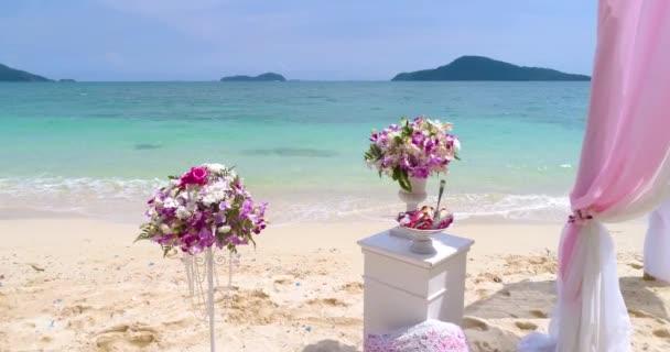Matrimonio Spiaggia Decorazioni : Antenna bellissimo matrimonio decorazioni con fiori sulla