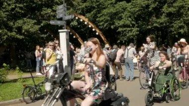 Women gather at Lady on Bike parade