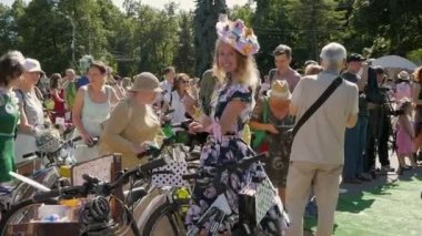 Woman dancing at Lady on Bike parade