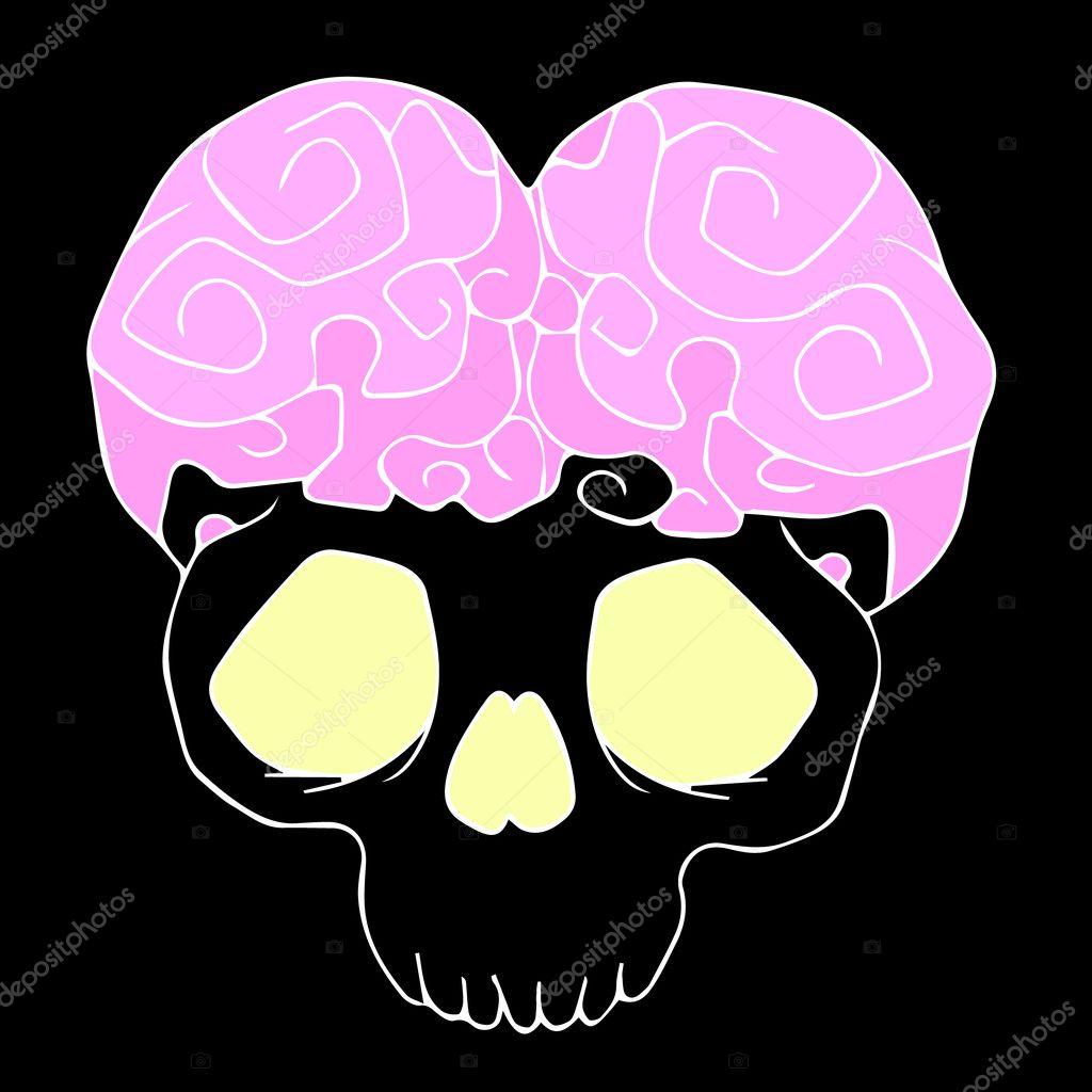 The brain of the alien. Alien halloween. Alien space. Alien cartoon ...