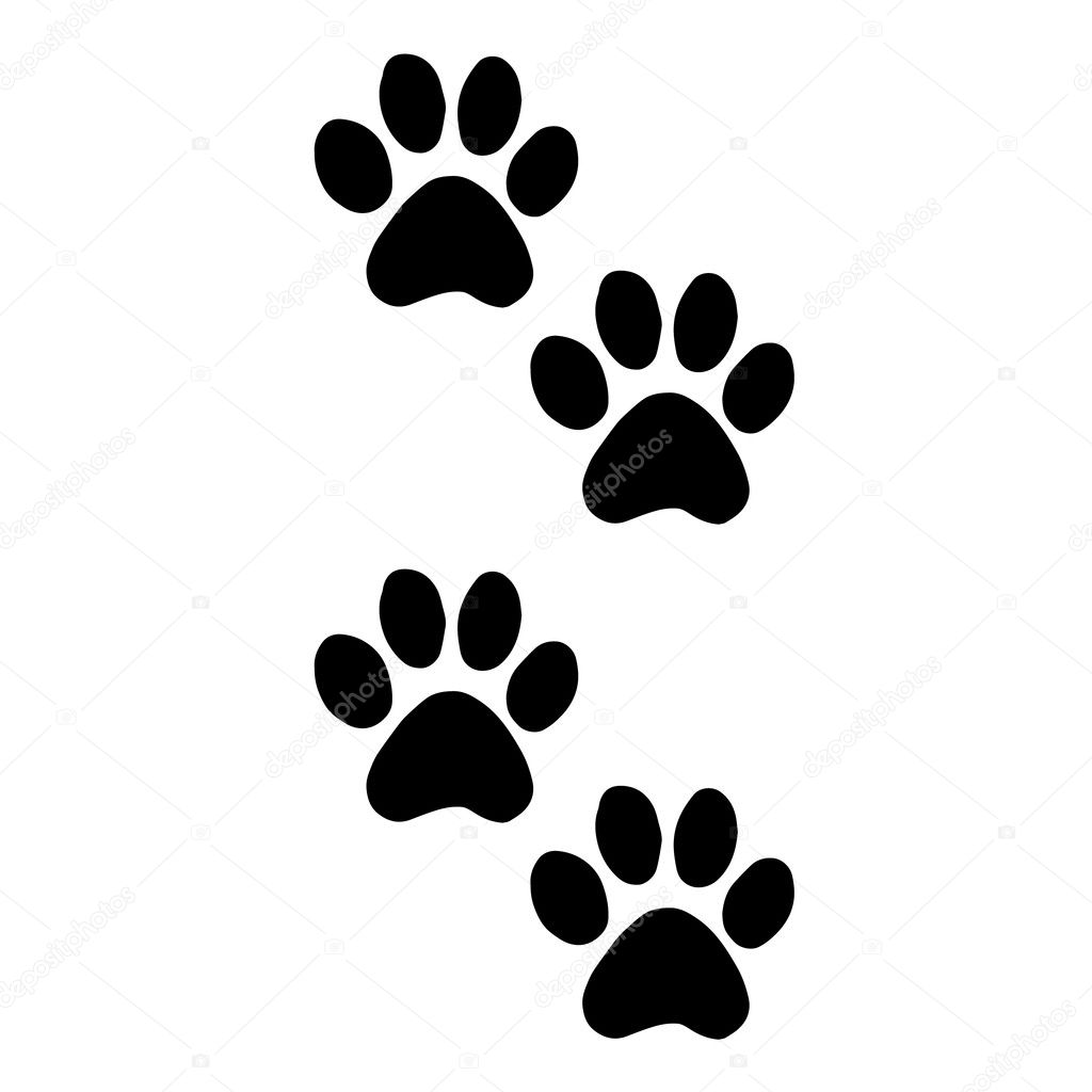 e5dedd52d737 Trail cats. Abstract animal footprint vector background. Footprints of cats  foot silhouette vector illustration. Dog foot ...