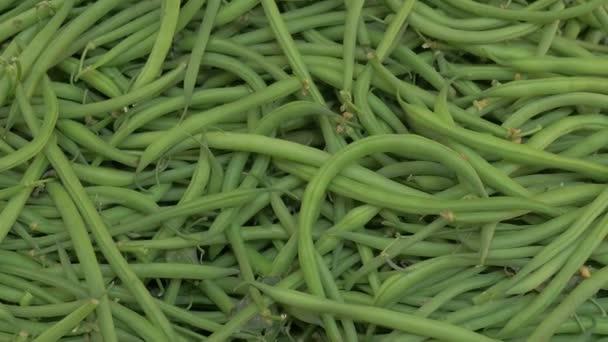 Heap frische grüne Bohnen