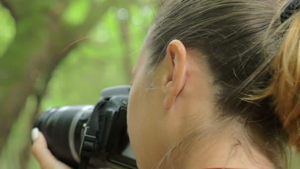 mladý fotograf se svou kamerou Fotografie přírody