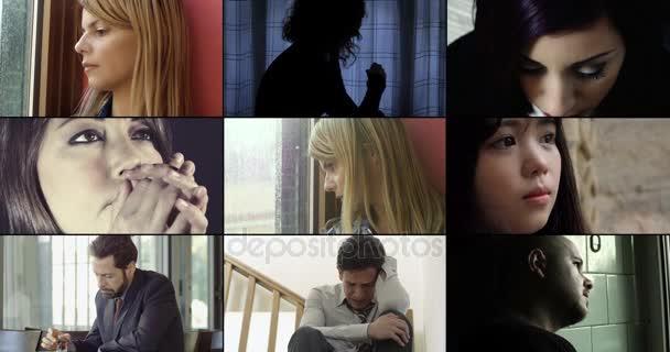 Složení lidí, smutný a depresivní