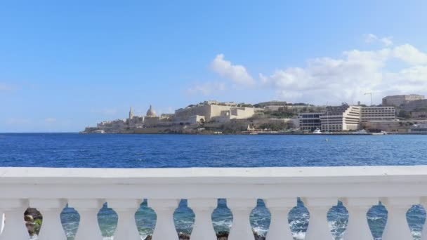 panoramic view of Malta: the sea and the island