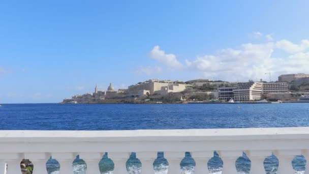 beautiful and picturesque view of Valletta, Malta