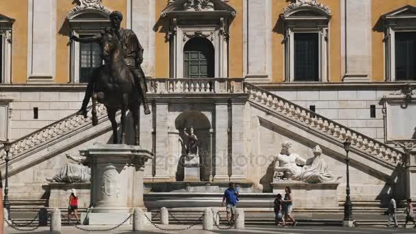 Splendida vista della Piazza Del Campidoglio, Roma, Italia, giugno 2017