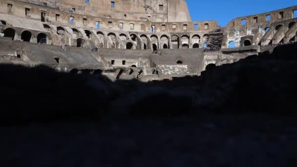 Okouzlující vnitřní pohled Koloseum v Římě, Itálie