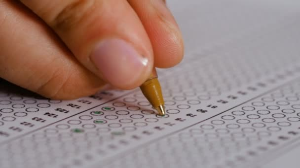 knowledge, responses, Exam: marking Multiple choice-test