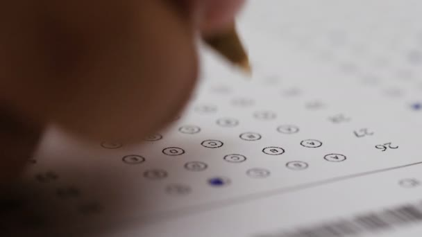 Marking the right answer in a multiple-choice test