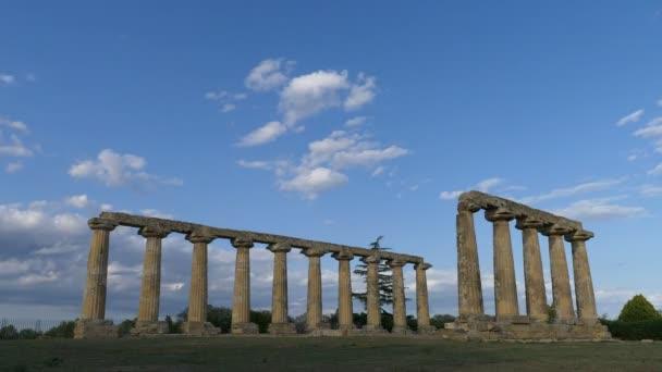 herrliche Aussicht auf antike Säulen