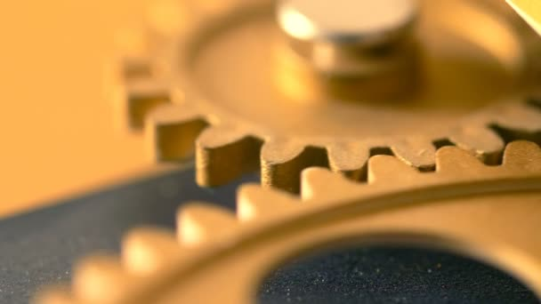 mechanical wheels rolling slowly- close up