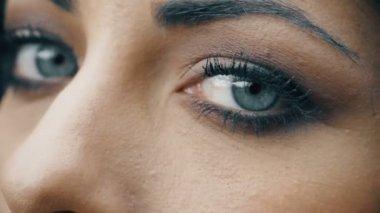 sensual look of beautiful woman at the camera