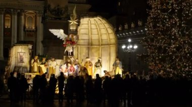 Observing Christian Nativity in S. Peter Square-22 December 2017, Rome, Italy