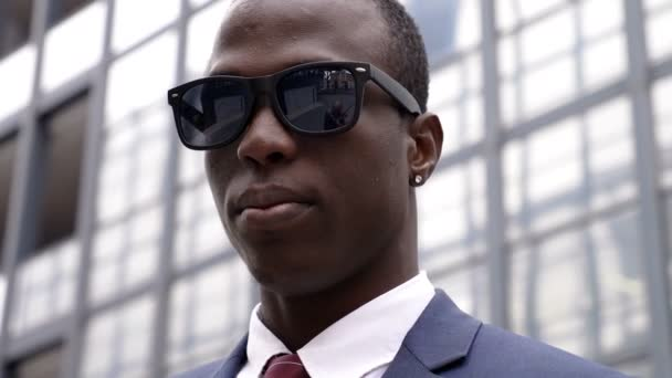 Success, Business, profession- Succesful black manager looking in camera
