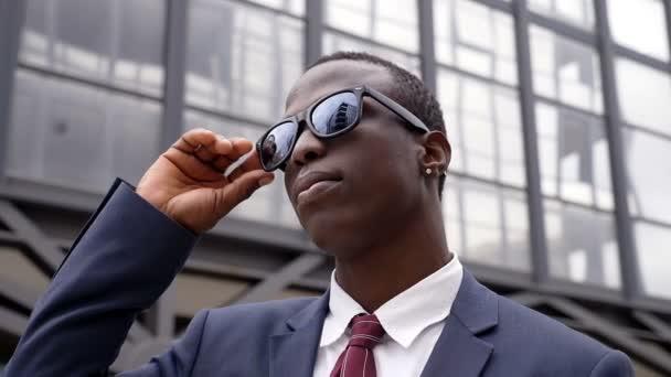 Handsome black African business man