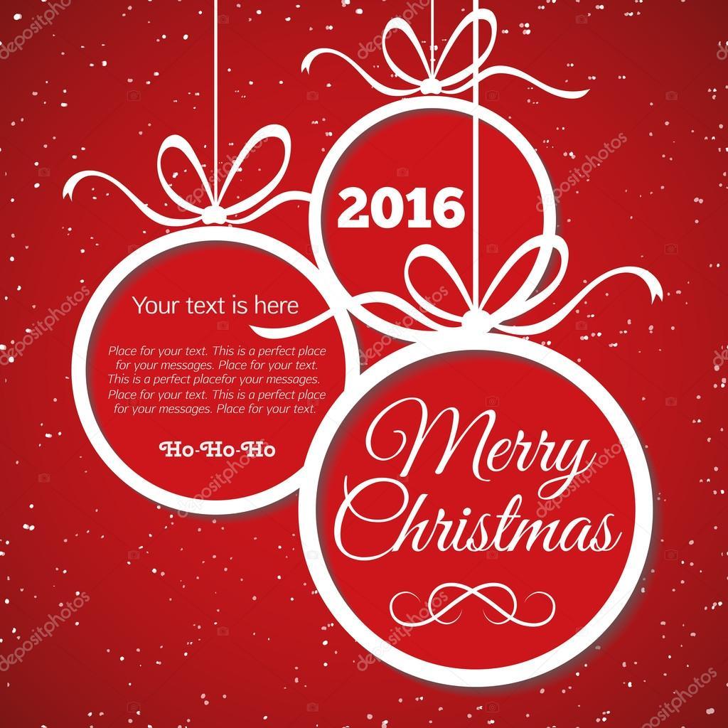 Frohe Weihnachten-Karte mit Glückwünschen — Stockvektor © VI6277 ...