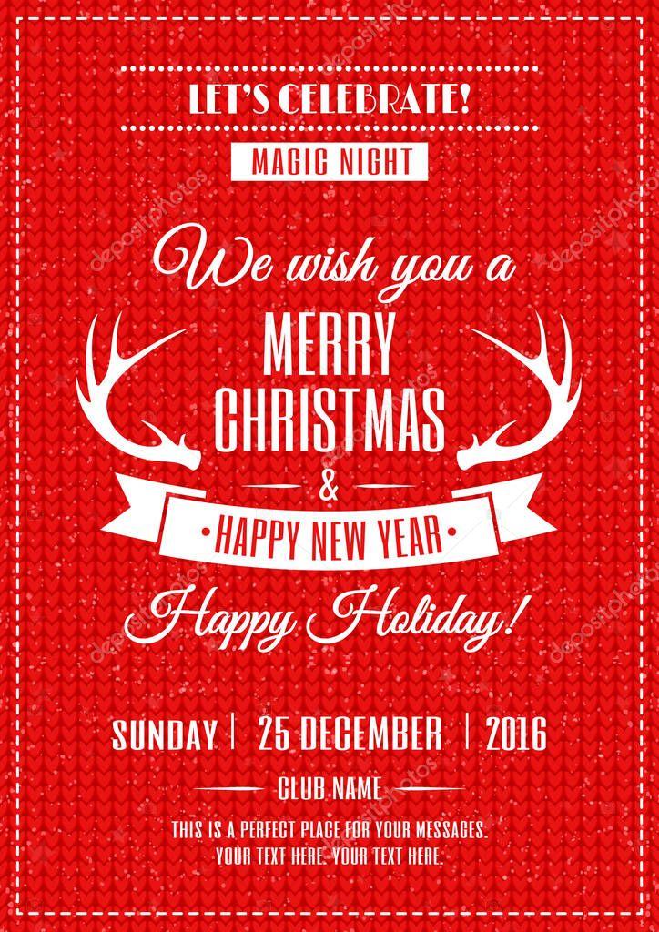 Frohe Weihnachten-poster — Stockvektor © VI6277 #128812534