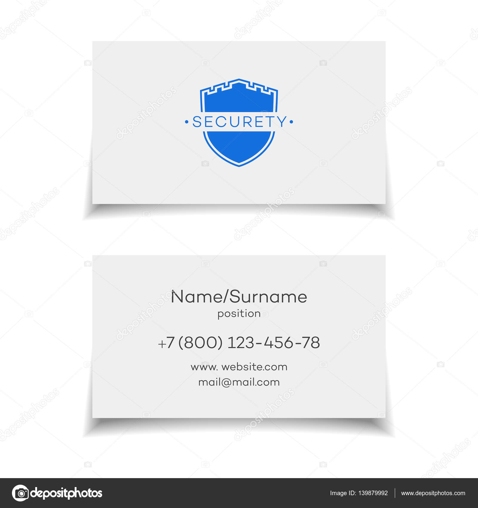 Security business card — Stock Vector © VI6277 #139879992