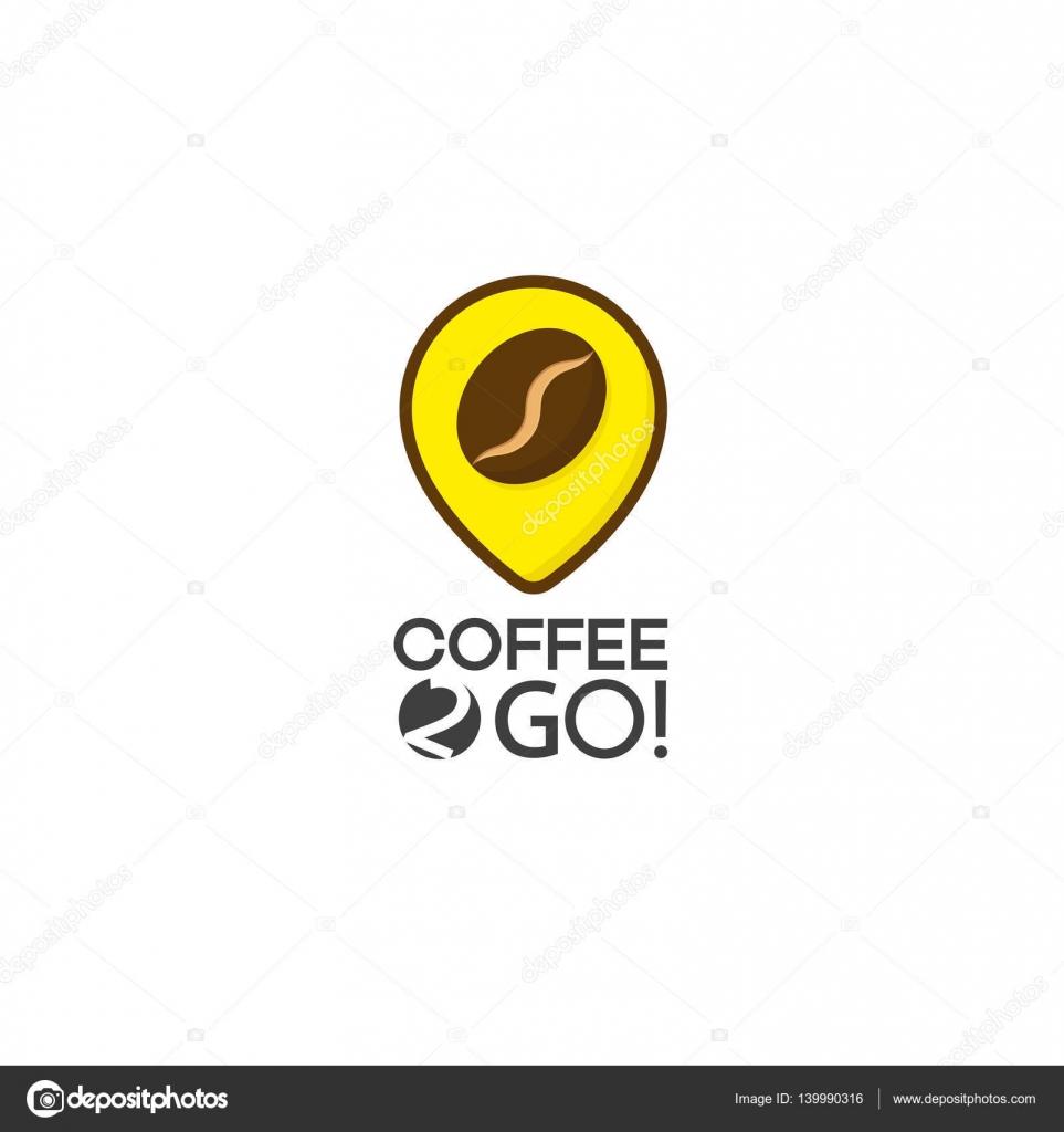 Kahve Logosu Beyaz Arka Plan üzerinde Izole Stok Vektör Vi6277