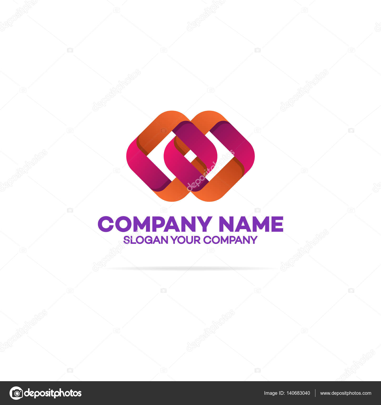 Chain logo template with two squares stock vector vi6277 chain logo template with two squares on white background can used for corporate identity marketing firm funds service investment and other square logo buycottarizona