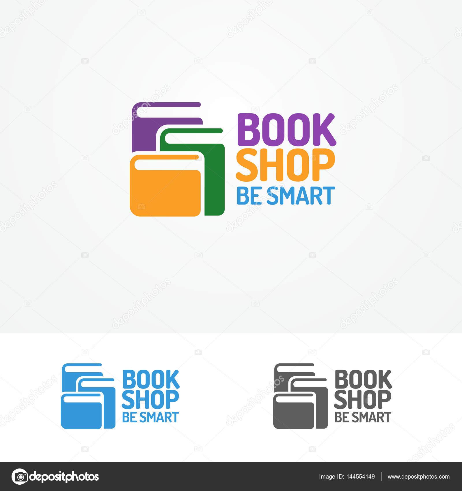 Logo de la tienda de libro set, compuesto por colores diversos ...