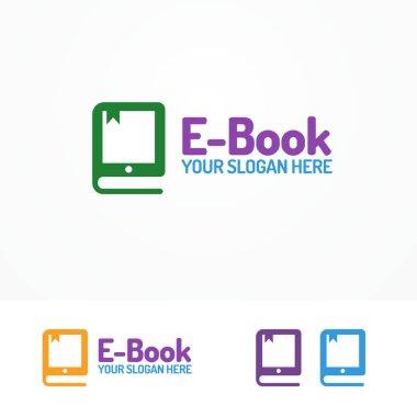E-book logo set isolated on white background