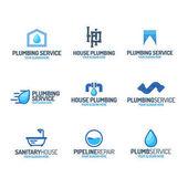 Fotografie Sanitär-Service-Logo setzen Farbe Stil