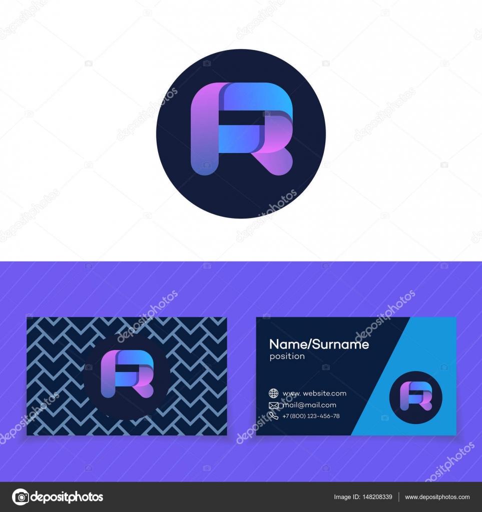 Modle De Conception Carte Visite Avec Logo Lettre R Image Vectorielle