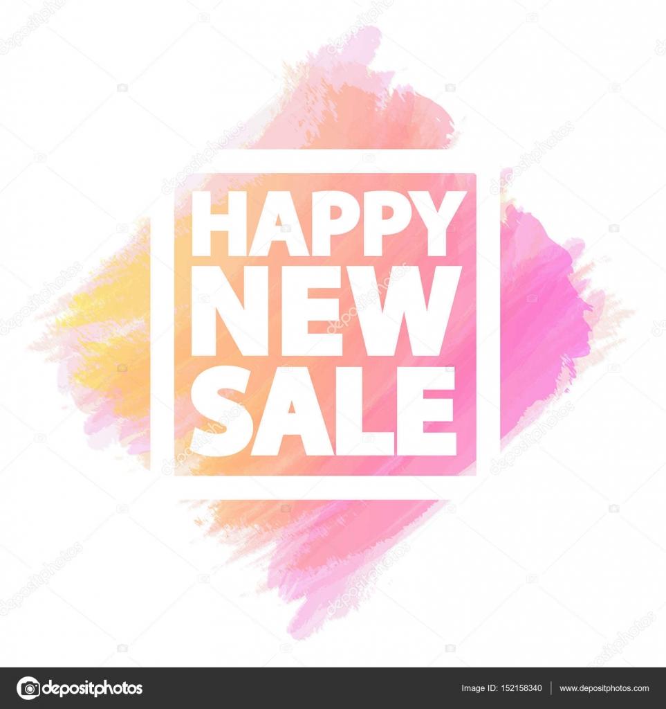 Feliz nuevo banner de venta para poblaciones como venta de viernes ...