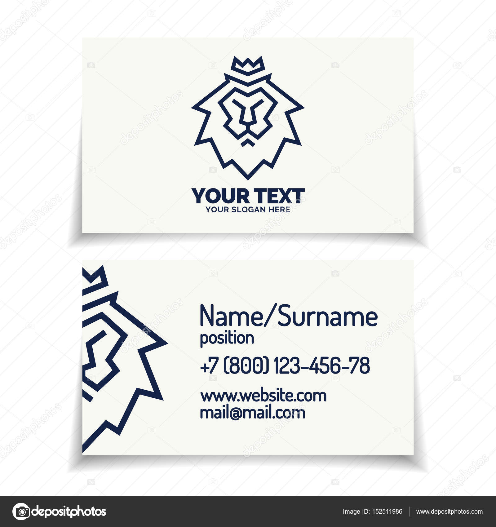 Best font for business card images free business cards fonts for business cards image collections free business cards business card with lion emblem cyan color magicingreecefo Image collections